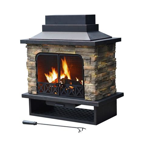 hton bay outdoor fireplace hton bay 55 5 in outdoor cast iron chimenea fp51186d