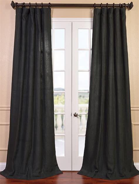 carbon grey linen curtain contemporary curtains