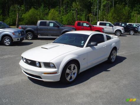 white ford mustang for 2007 performance white ford mustang gt premium coupe