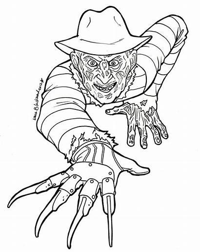 Coloring Freddy Horror Krueger Adult Colouring Google