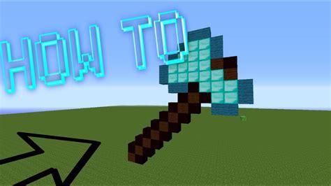 How To Make A Diamond Axe Pixel Art /w