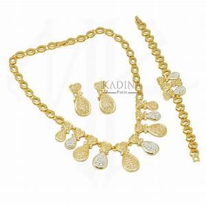 bijoux doree grossiste bijoux doree kpa0351 parure With grossiste bijoux plaqué or