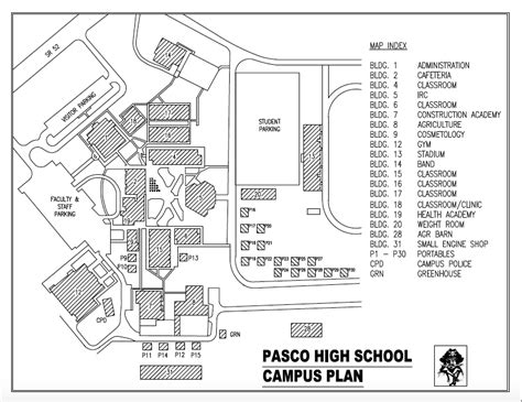 campus map pasco high school