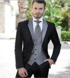 wedding tuxedos for groom 2017 black two buttons slim fit the best suits for wedding groom tuxedos mens suits jacket