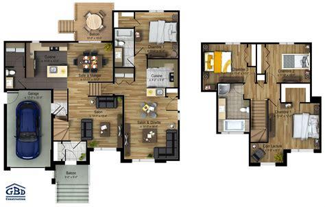 plans maison plain pied 4 chambres génération maison neuve intergénération gbd construction