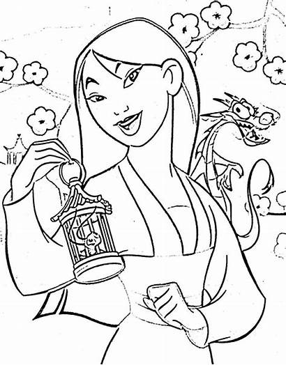Mulan Coloring Disney Princess Colorear Preschool Dibujos
