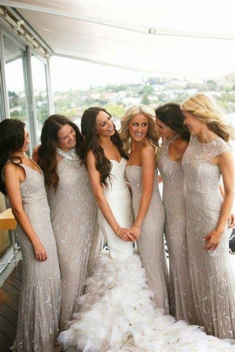 silver bridesmaid dresses memorable wedding gorgeous winter bridesmaid dresses