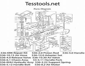 Model 536 50 Ton Air  Hydraulic Axle Jack  Parts List
