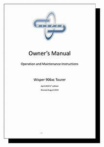 Wisper 906xc Tourer Owners Manual