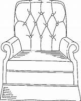 Furniture Armchair Coloring Pages Chairs Armchairs sketch template