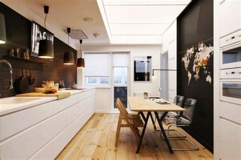 cuisine en longueur ouverte aménagement cuisine 52 idées pour obtenir un look moderne