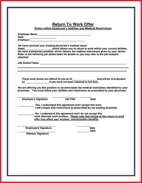 return  work doctors note sop examples