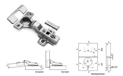 soft close kitchen cabinet door hinge  degree
