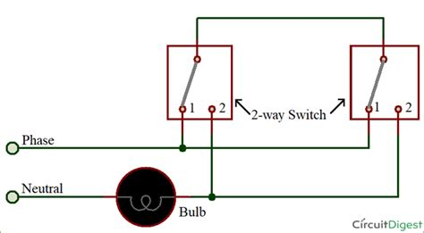 How Connect Way Switch With Circuit Diagram