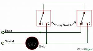 Three Way Switch Wiring Diagram Two Light