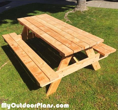 ideas  picnic table plans  pinterest build  picnic table pallet furniture diy