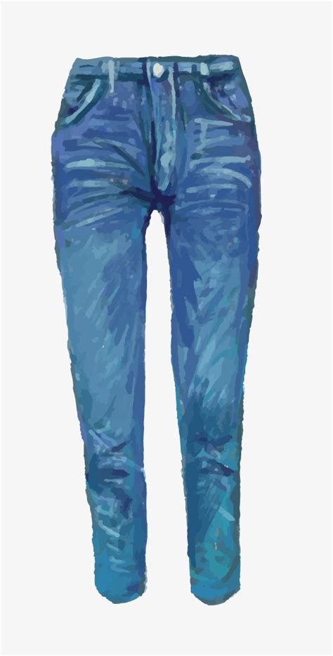 dibujo jeans acuarela jeans ropa png  vector