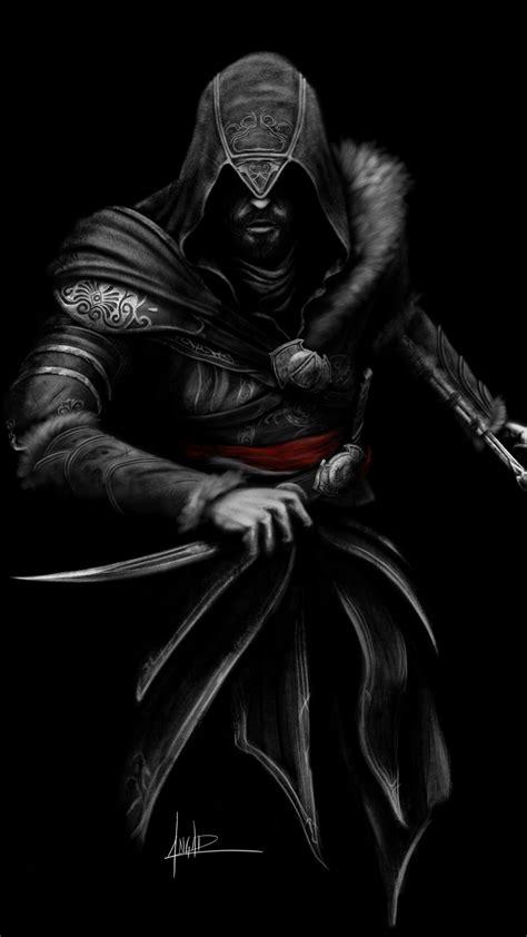 wallpaper ezio assassins creed fan art black dark
