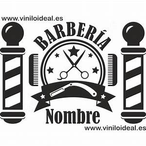 VINILO DECORATIVO ADHESIVO BARBERÍA Barberia Pinterest