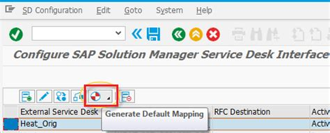 solution manager service desk configuring sap solution manager settings