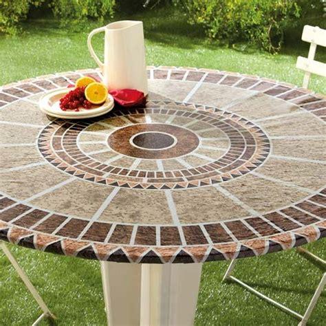 table ronde de cuisine sedao vente de la table déco toile cirée quot mosaïque quot