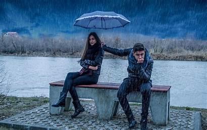 Romantic Wallpapers Coupal 1080p Couple Rain Caring