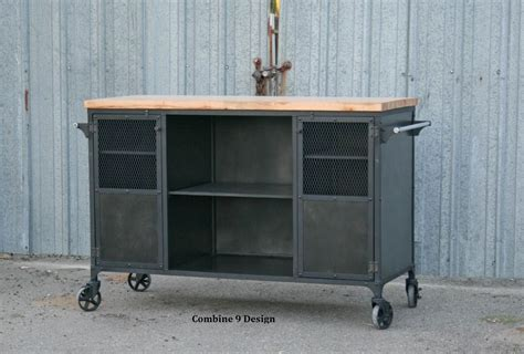 industrial kitchen island for buy a custom made vintage industrial bar cart kitchen 7514
