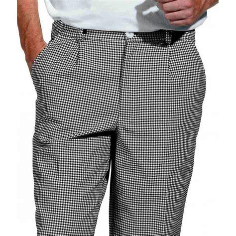 pantalon cuisine homme pantalon de cuisine boulangerie pied de poule noir blanc