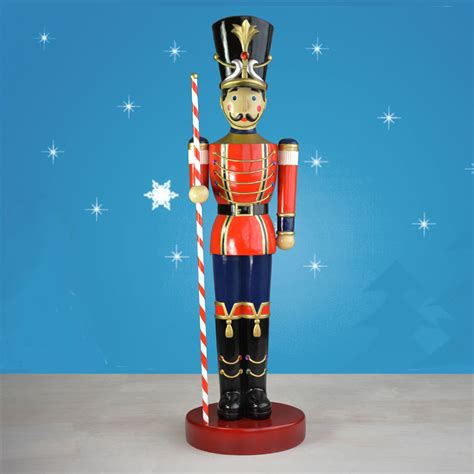 life size toy soldier statue  baton   hand