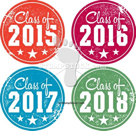 Class of 2015 2016 2017 2018 Graduation Stamps