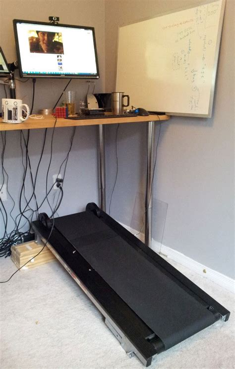 small manual treadmill desk browsing that only goes as fast as you run on