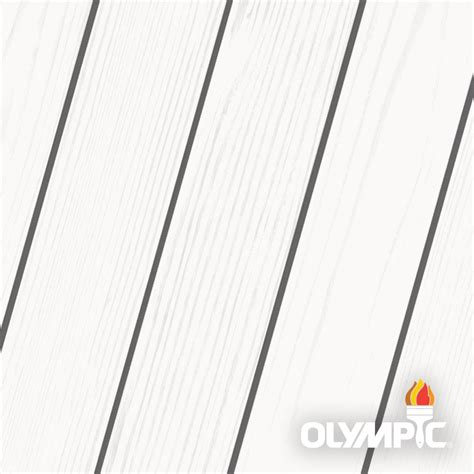 olympic maximum  gal white solid color exterior stain