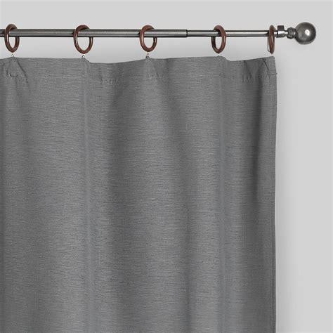gray canvas ring top jaya curtains set of 2 world market