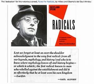 Saul Alinsky  U0026 His Rules For Radicals Dedication To
