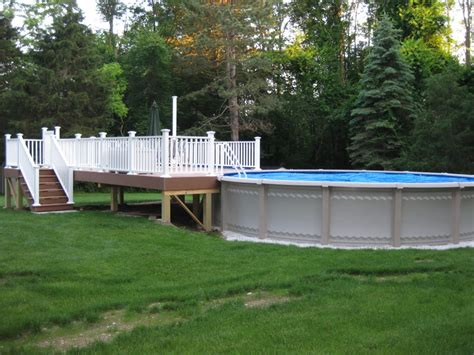 Above Ground Pool Decks Photos Landscaping by Great Image Of Backyard Landscaping Decoration Using Above