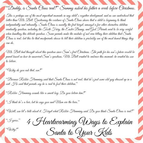 letter to child about santa i think i m as ready as i m 4 heartwarming letters to explain santa to your diy 70020