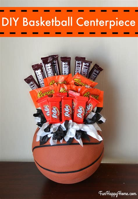 Diy Basketball Centerpiece A Fun Candy Bouquet