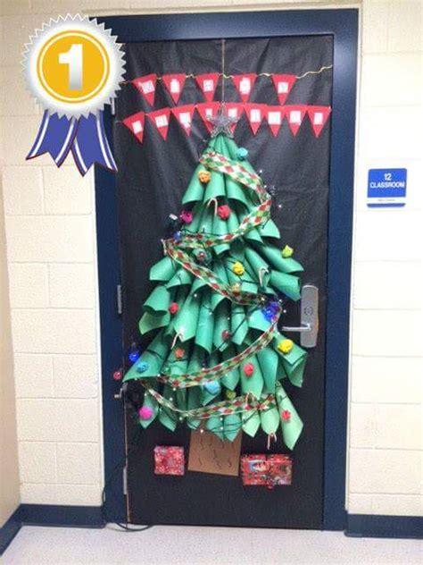 christmas doors in schools tree door decorations for school www indiepedia org