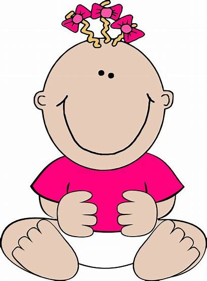 Clip Pink Clipart Doll Sitting Cliparts Cartoon