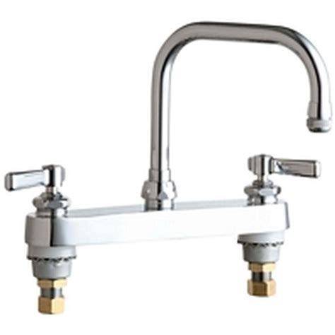 chicago faucets kitchen chicago faucets 2 handle standard kitchen faucet in chrome
