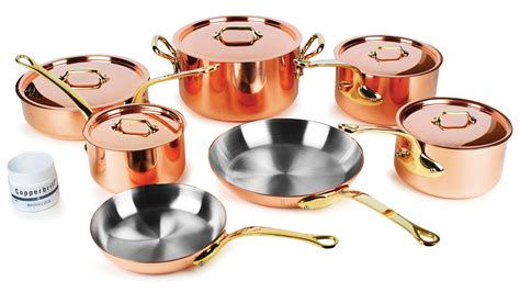 mauviel copper cookware set mm  piece mb
