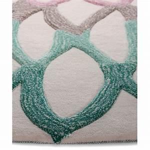 tapis rond vert lotus flower marque esprit home With tapis rond lotus