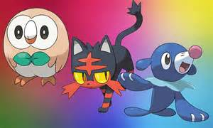 pokemon sun and moon trailers reveal starters