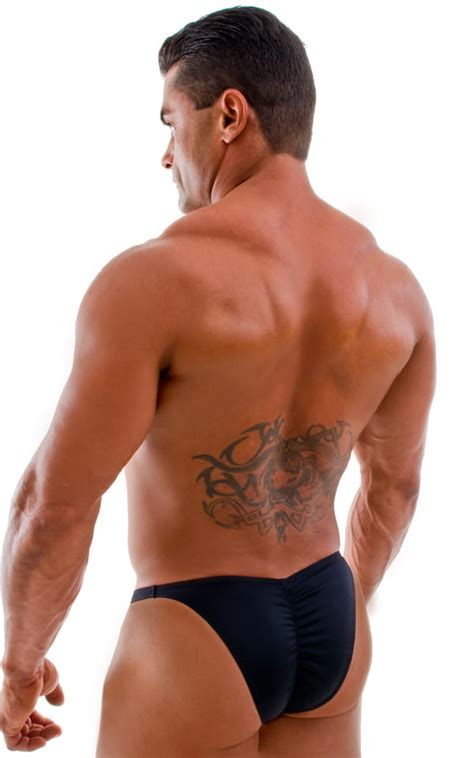 mens posing suit fitness swimwear fitted pouch bodybuilder