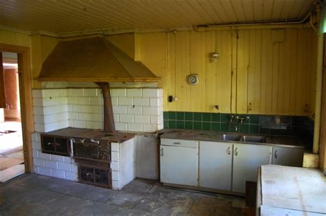 kitchen   swedish abandoned manor house