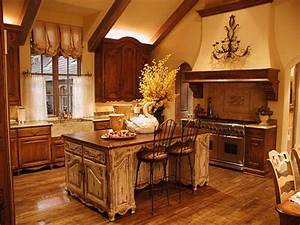 French country style kitchens home interior design for Tuscan country kitchen design ideas