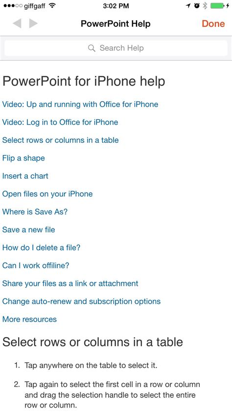 support iphone bureau guide to microsoft office on the iphone tapsmart