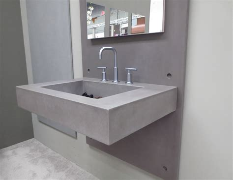 Top Mounted Bathroom Sinks by Wall Mount Sink Ada Concrete Bathroom Sink By Trueform