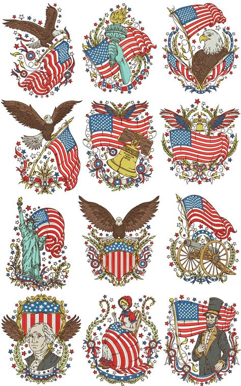 designs of vintage americana machine embroidery designs by sew swell