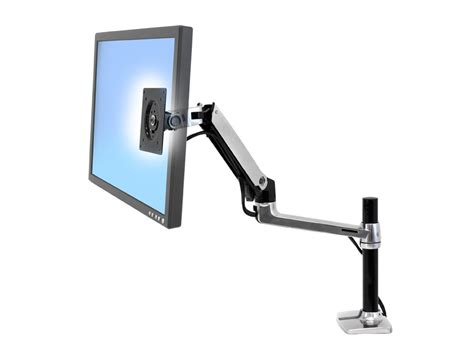 Computer Monitor Arms Desk Mount by Ergotron Lx Pole Desk Mount Lcd Monitor Arm